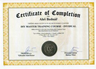 Certifikát - chemical guys individuální tréning